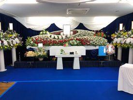 【実例】新平野西コミュニティ会館 家族葬17名